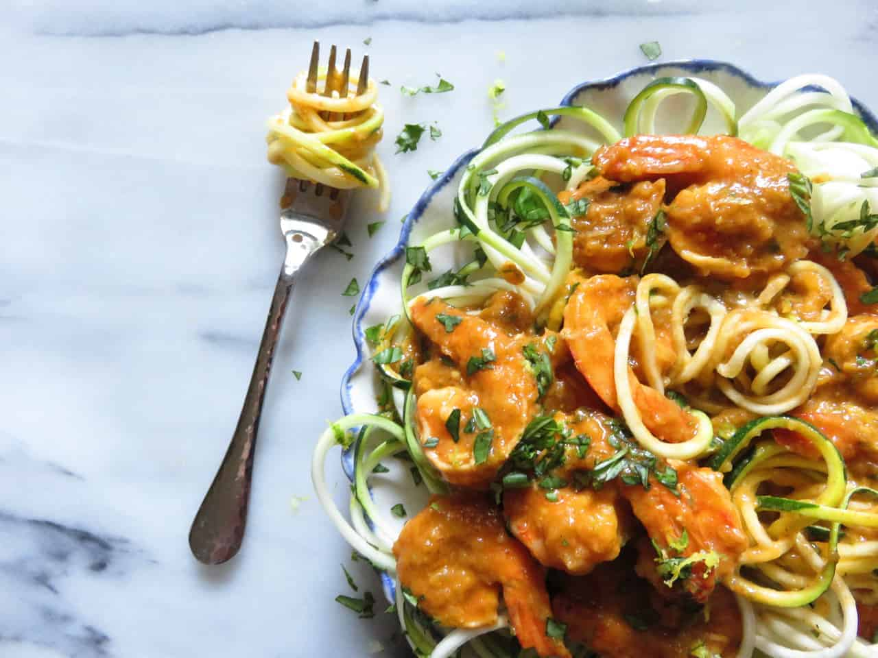 Spicy Shrimp with Zoodles