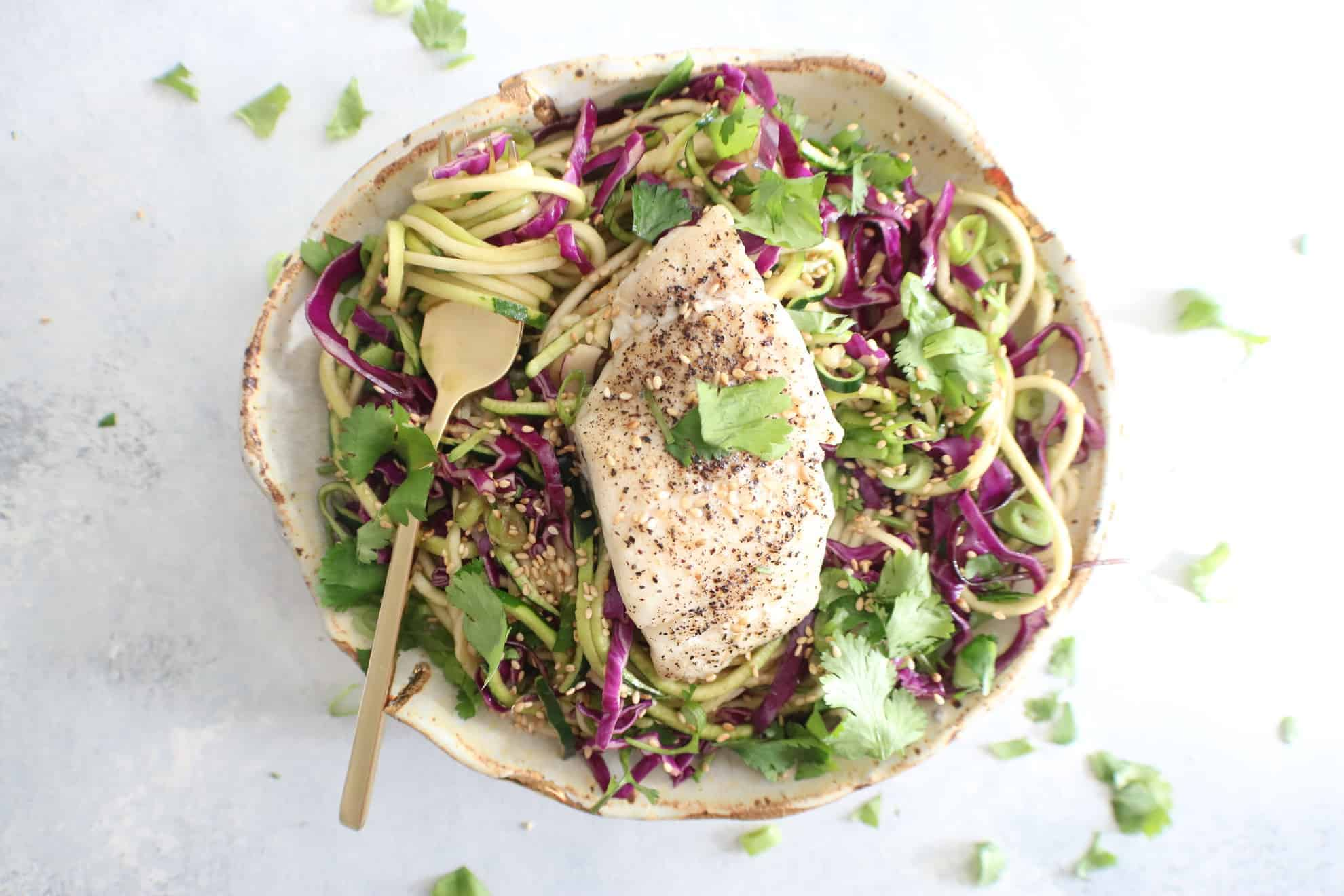Haddock with Sesame Zoodles