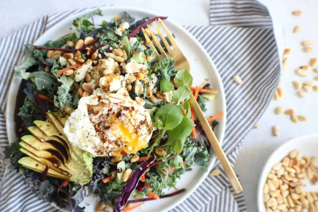 Kale + Beet Breakfast Salad