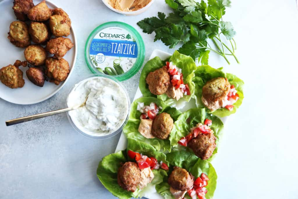 My Favorite Falafel with Butter Lettuce
