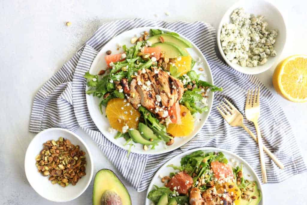 Summer Citrus Salad + Grilled Orange Marinated Chicken