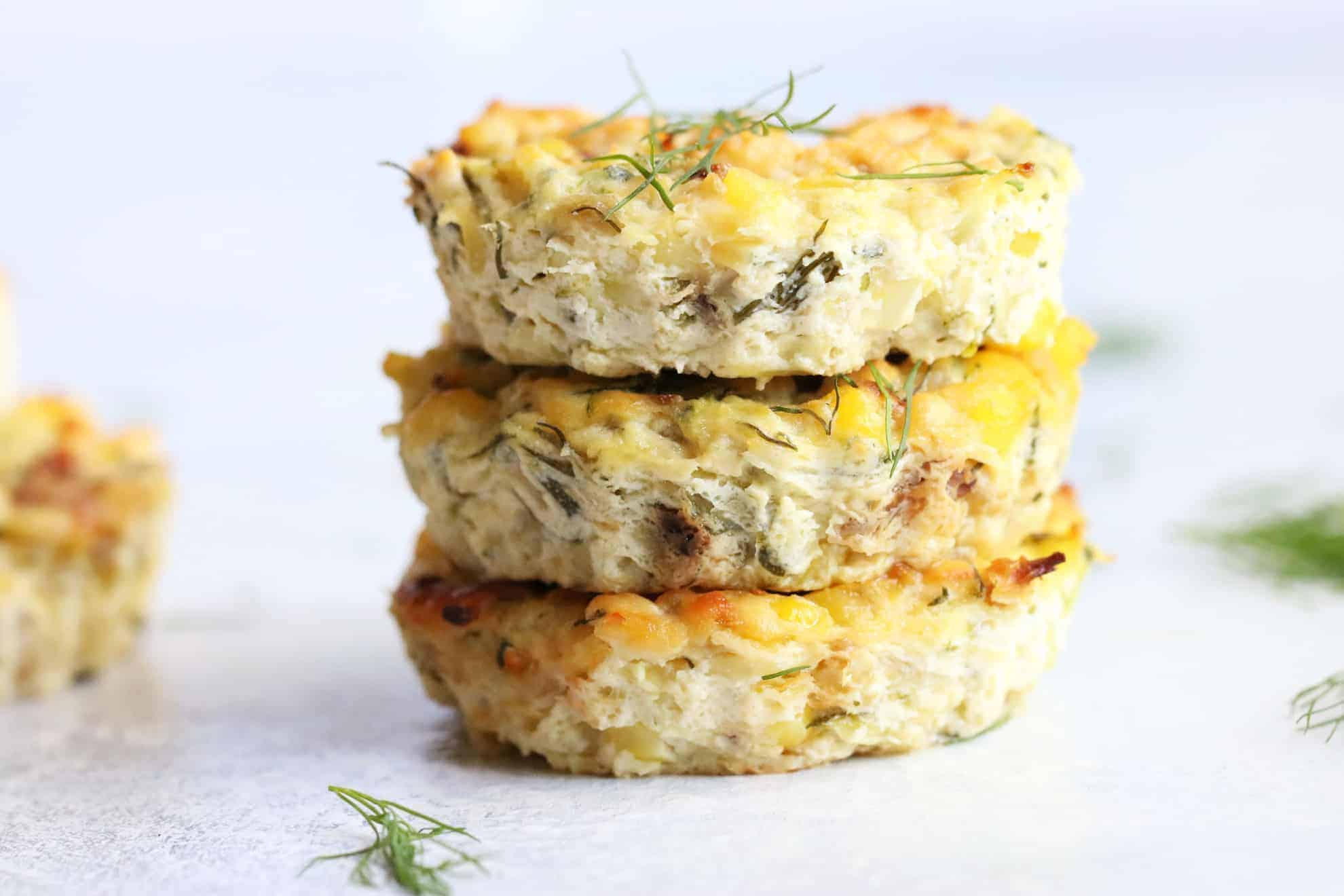 Three Cheese Zucchini Bites
