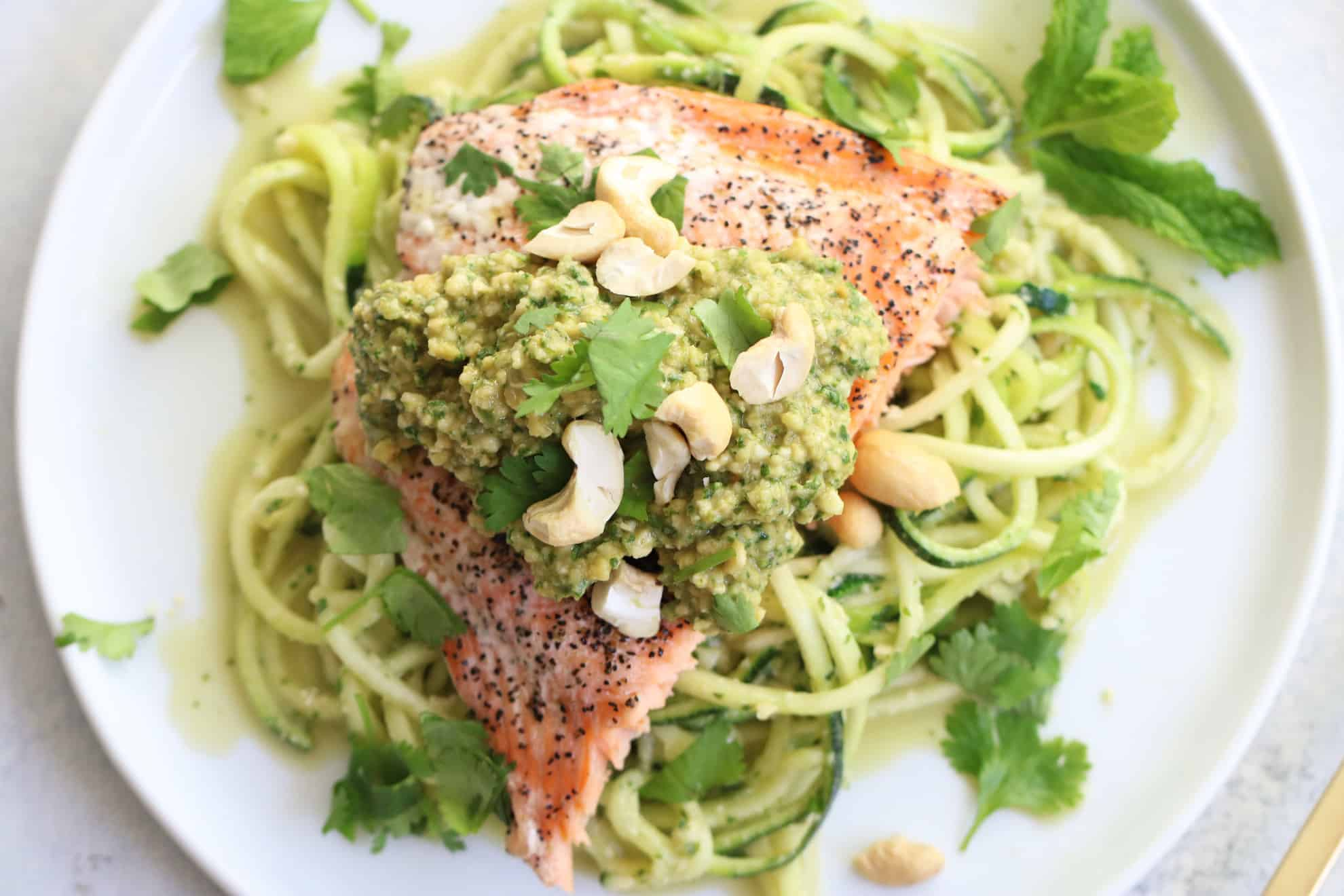 Salmon + Spicy Thai Zoodles