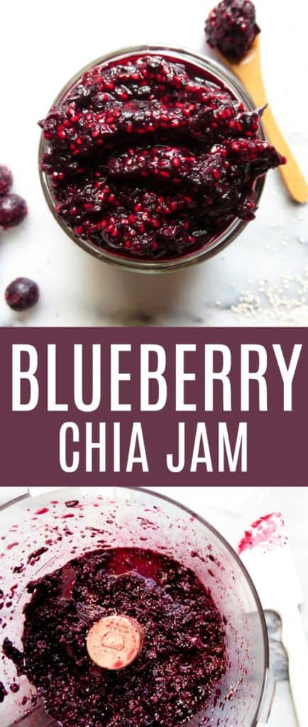 You'll love this FOUR INGREDIENT Blueberry Chia Jam!! It's paleo, low glycemic, and refined sugar free. You'll be making it on repeat! thetoastedpinenut.com