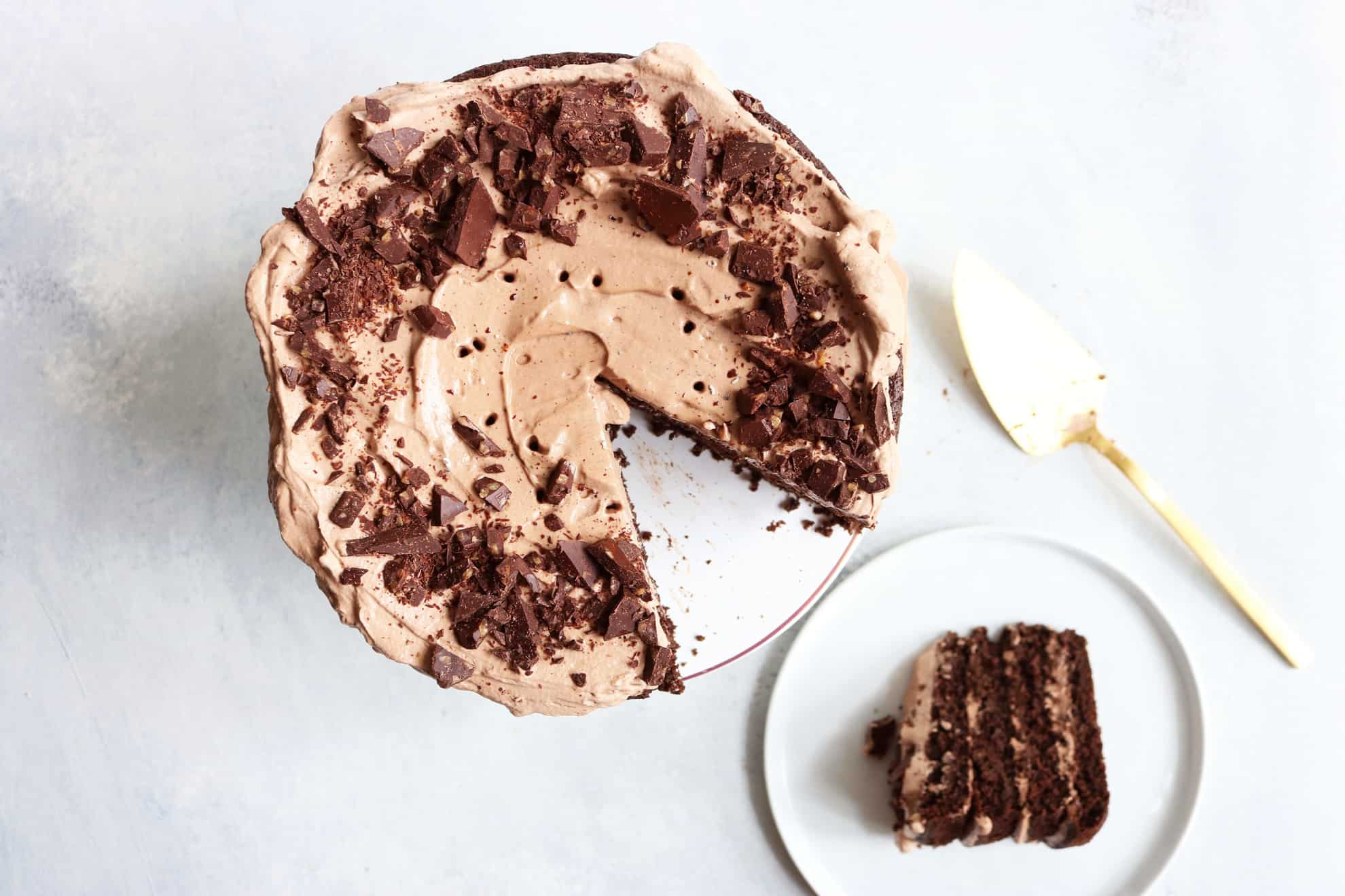 Triple Chocolate Birthday Cake