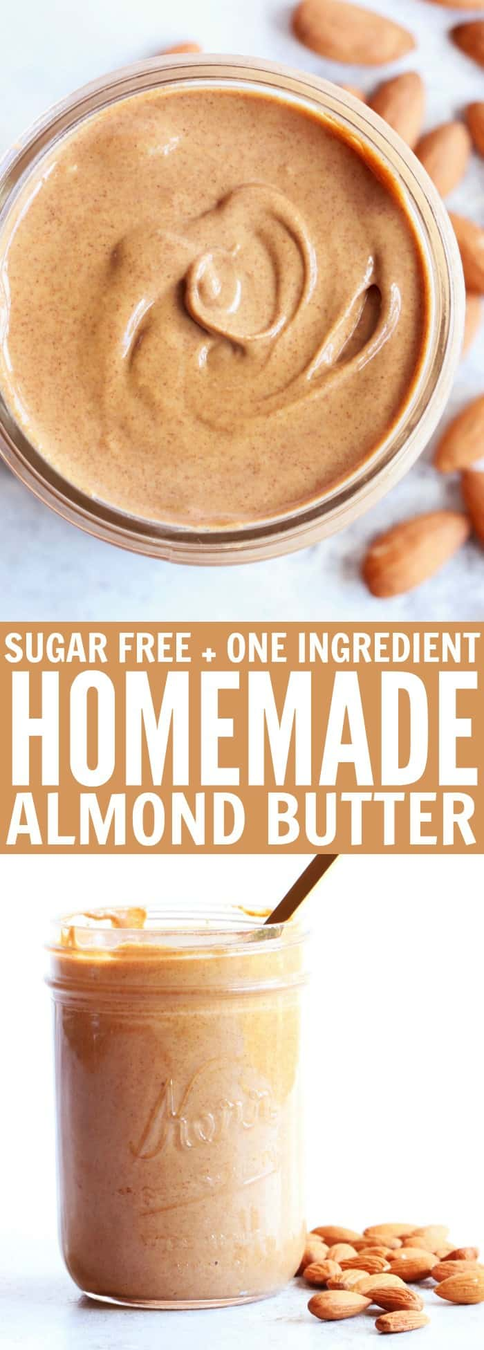 how to make your own almond nut butter