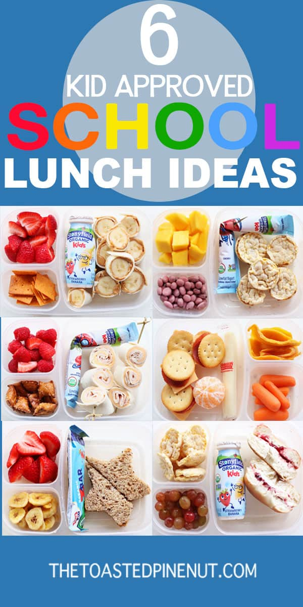 As a new school year approaches, I'm sharing Six School Lunchbox Ideas that you can pack! All of these are kid approved and so simple to throw together! thetoastedpinenut.com #thetoastedpinenut #kid #kidapproved #school #schoollunch #lunchbox #ideas #kidmeals #kidlunch