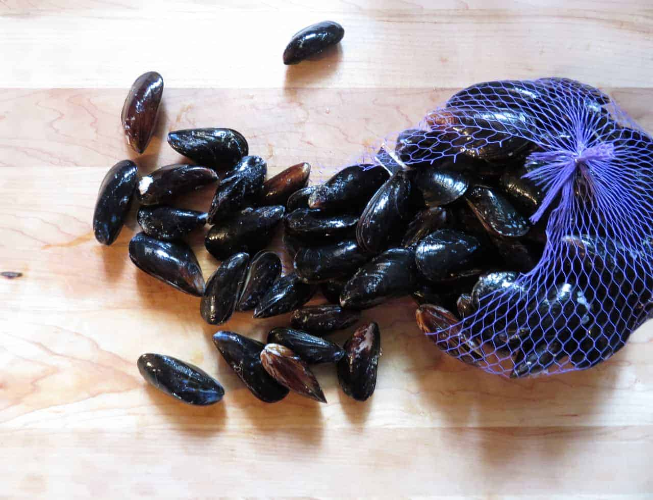 Beer Boiled Mussels