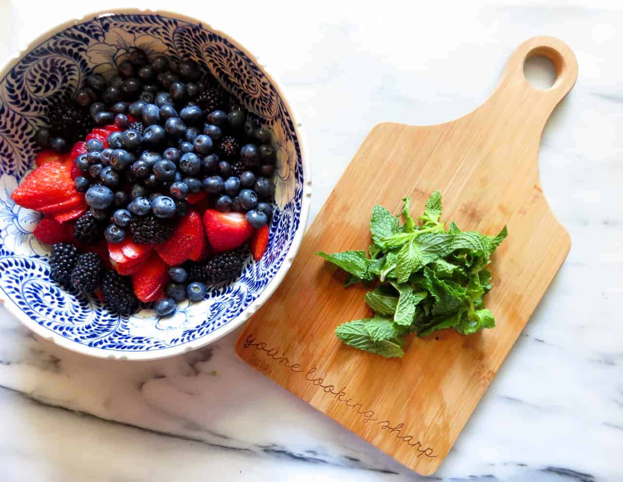 Red White & Blue Berry Salad