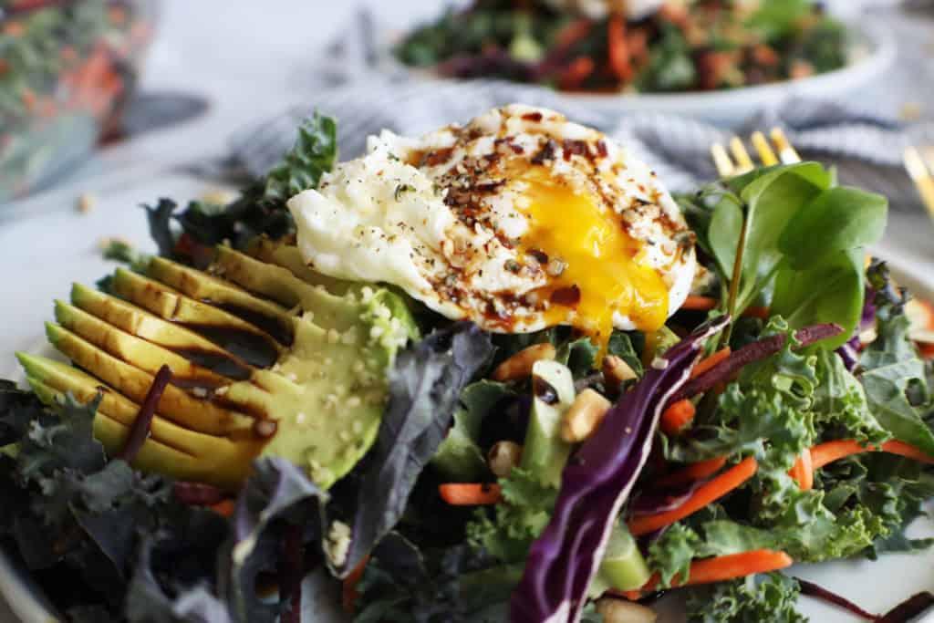 Kale + Beet Breakfast Salad