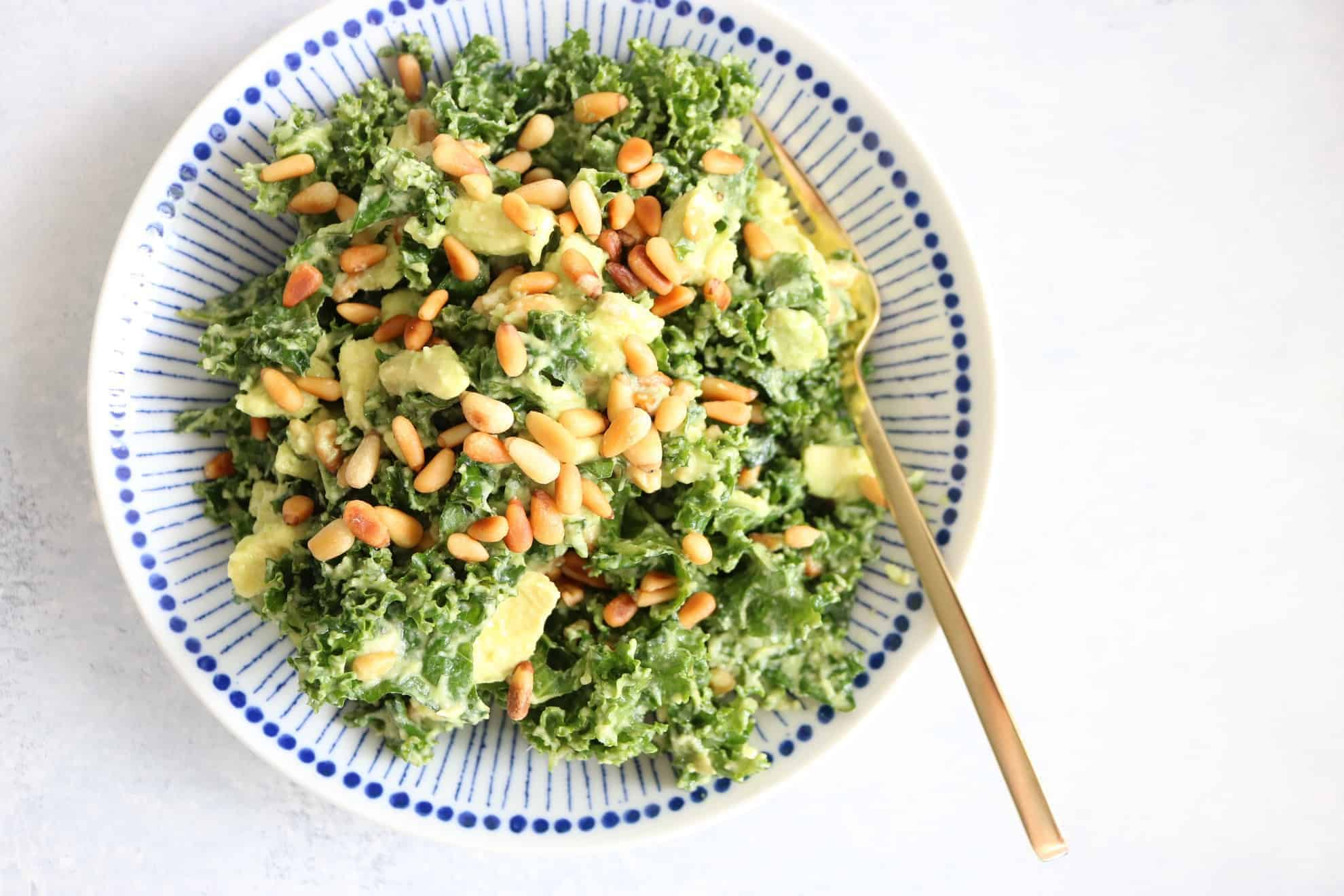 Lemon + Avocado Kale Salad