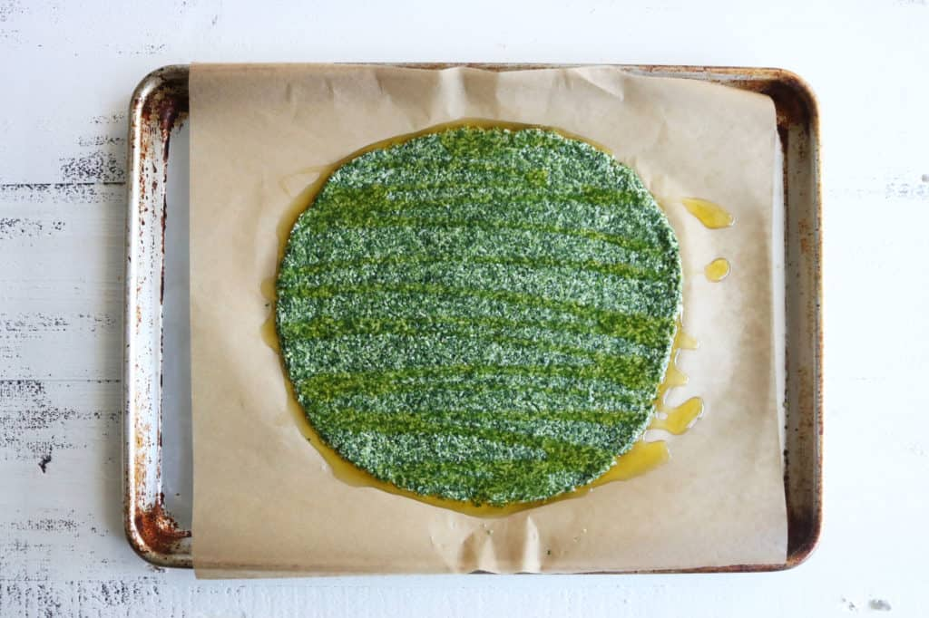 Spinach + Kale Pizza Crust
