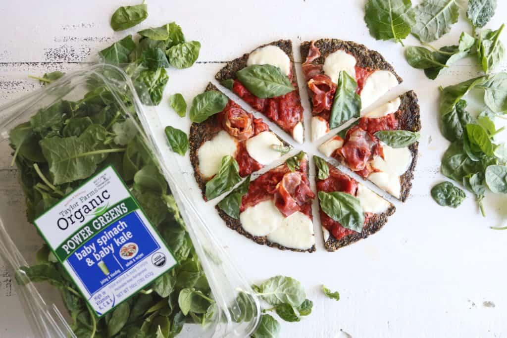 Spinach + Kale Pizza Crust