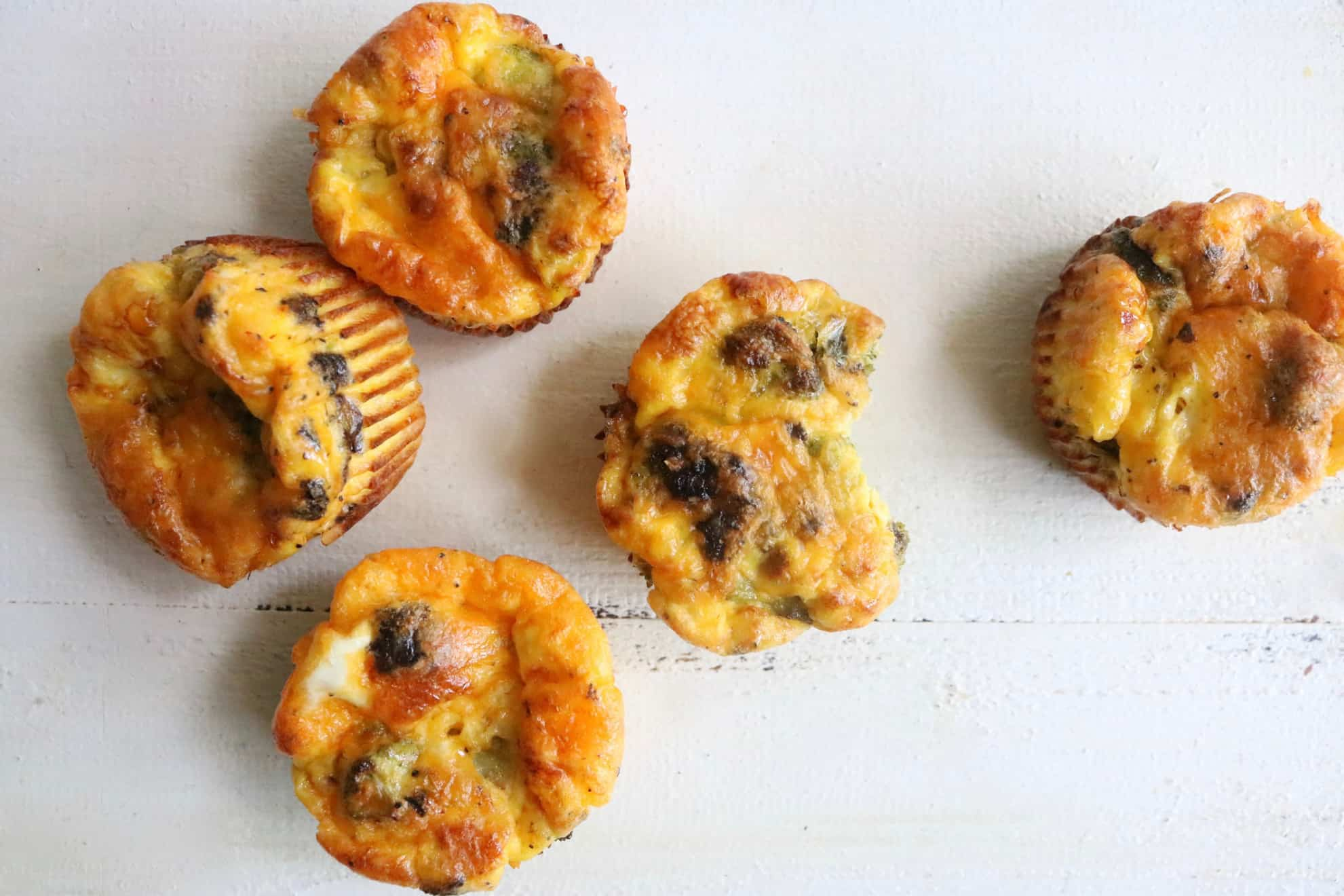 Broccoli Cheddar Egg Muffins