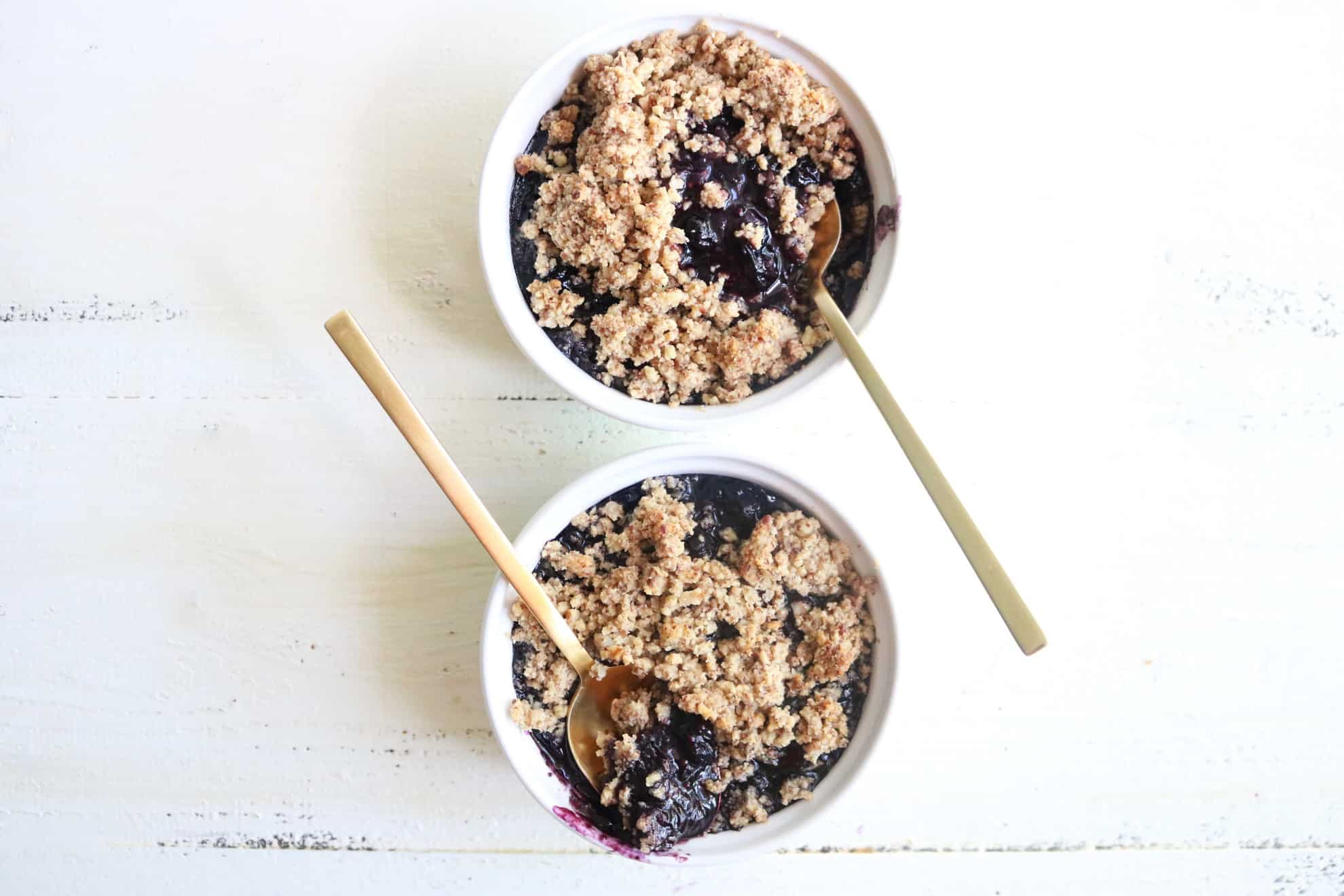 Gluten Free Blueberry Crumble
