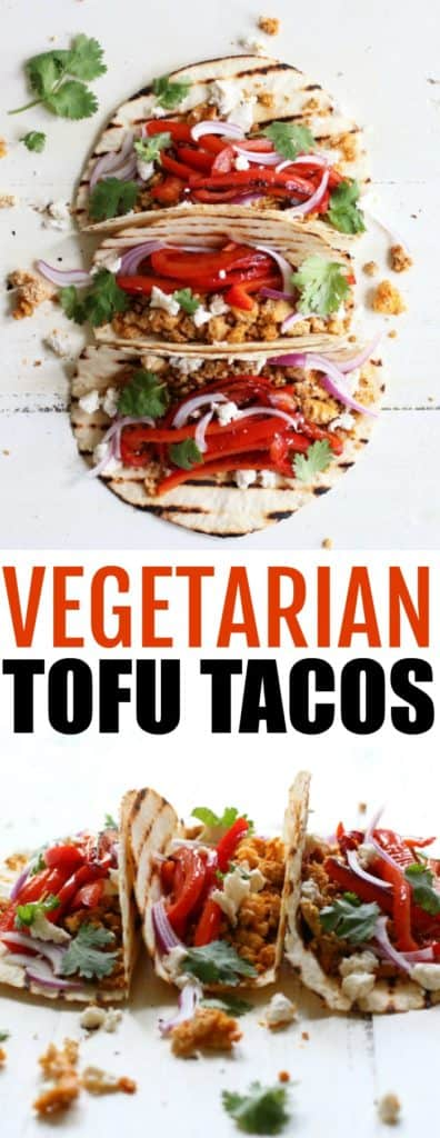 Spicy Vegetarian Tofu Tacos