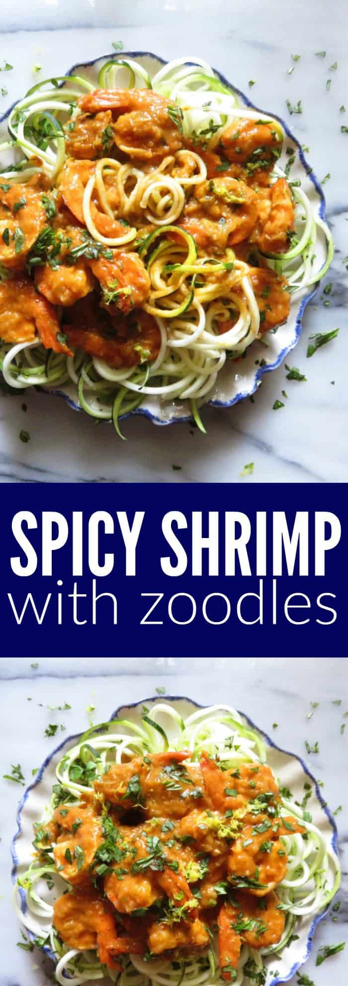 LOVE this spicy shrimp + zoodles recipe for all my party people who love some spice! It's sooo tasty and makes for a delicious low carb + paleo meal! thetoastedpinenut.com