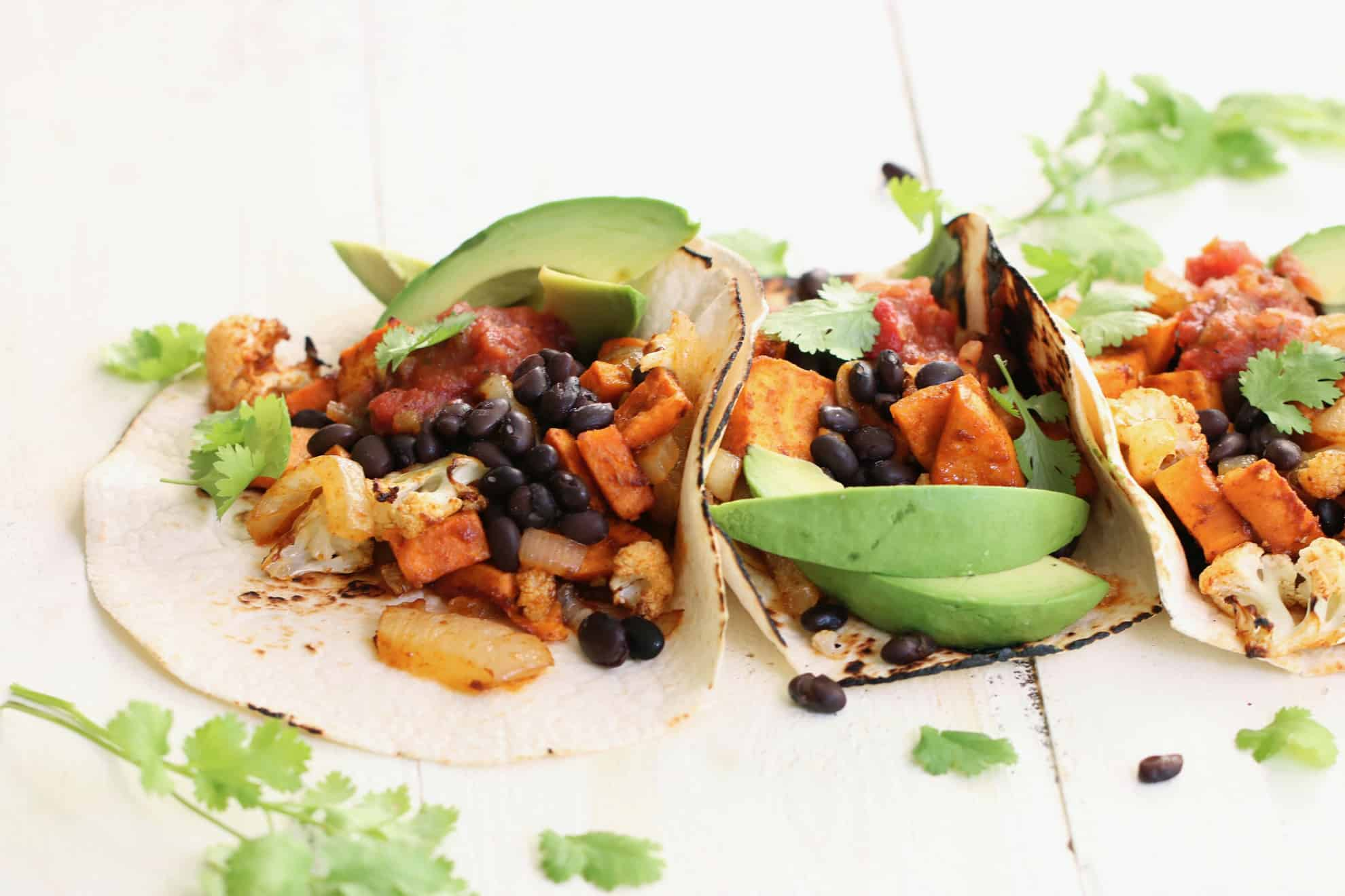 Vegetarian Sweet Potato + Black Bean Tacos