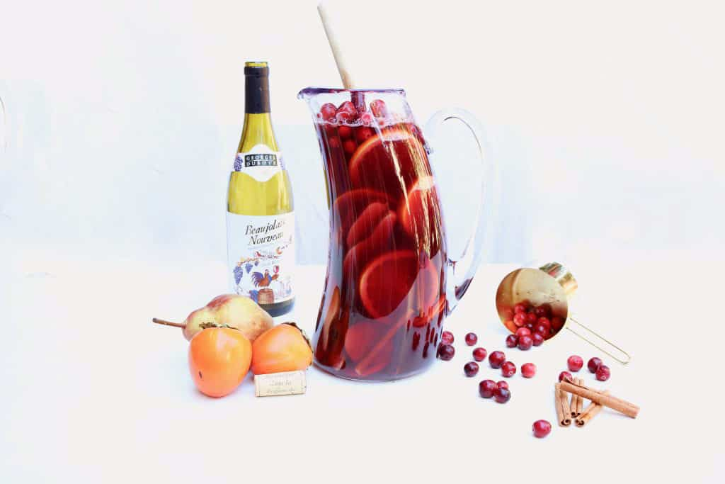 Autumn Cranberry Pear Sangria