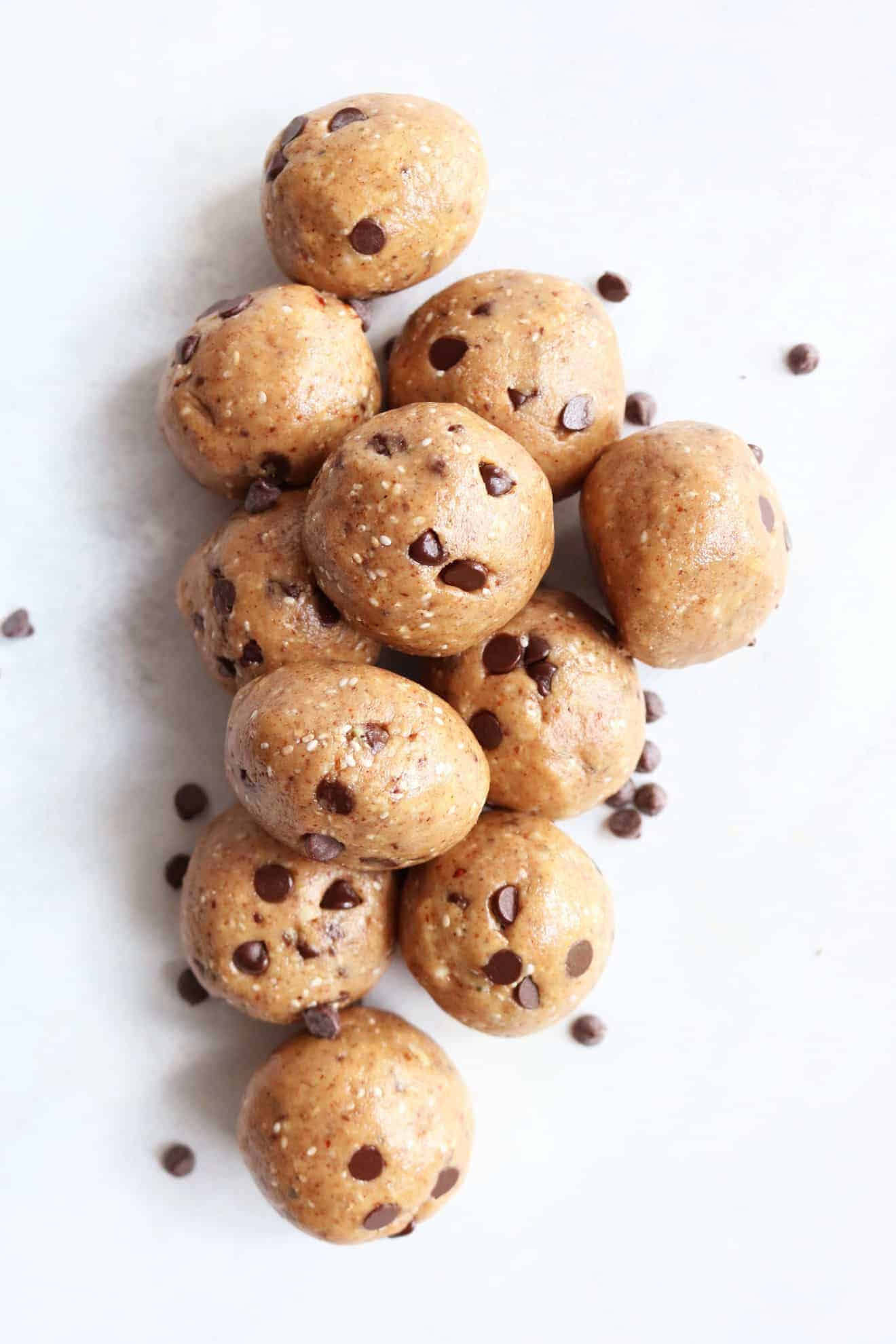 Chocolate Chip Almond Butter Energy Balls