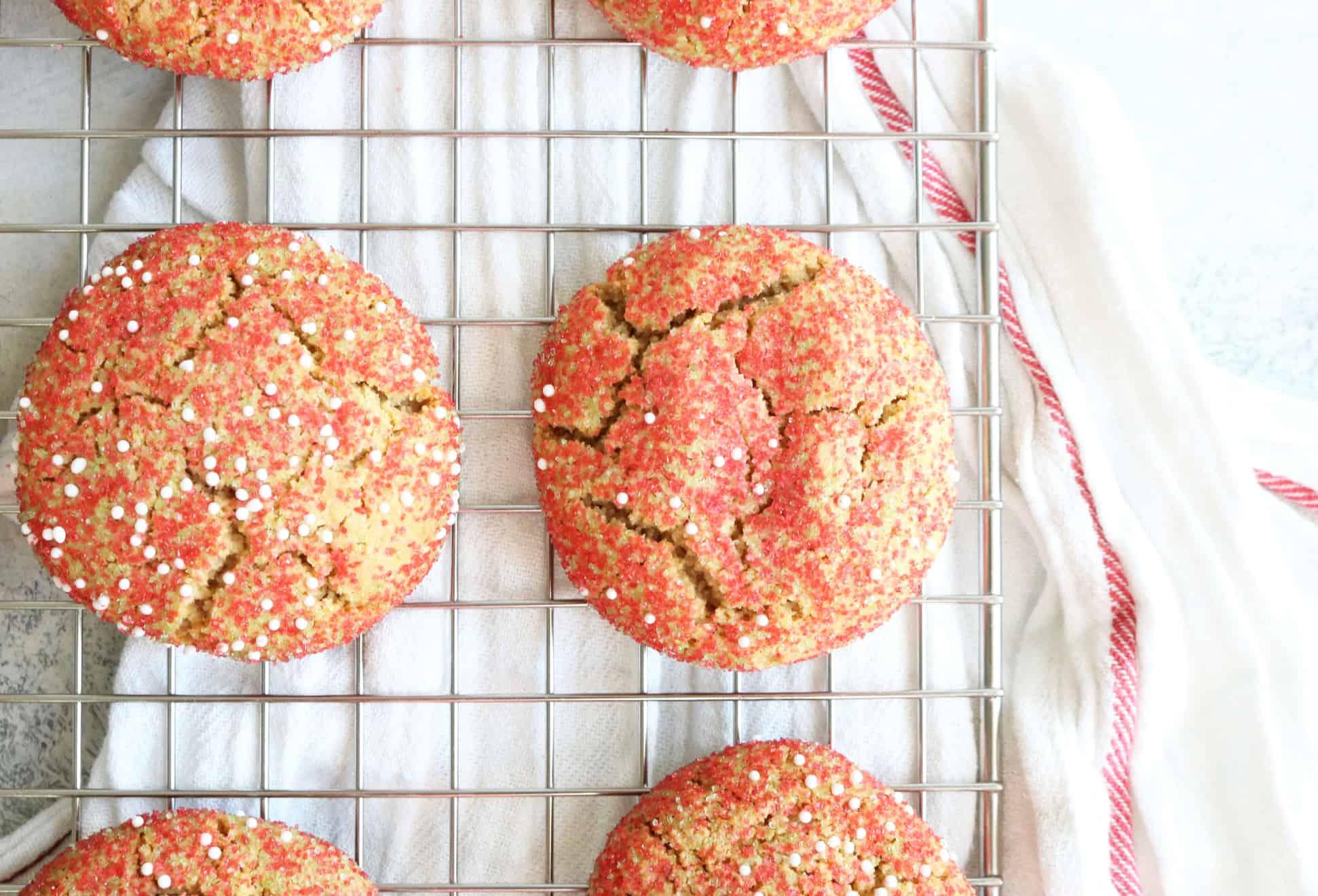 Chewy Christmas Sprinkle Cookies
