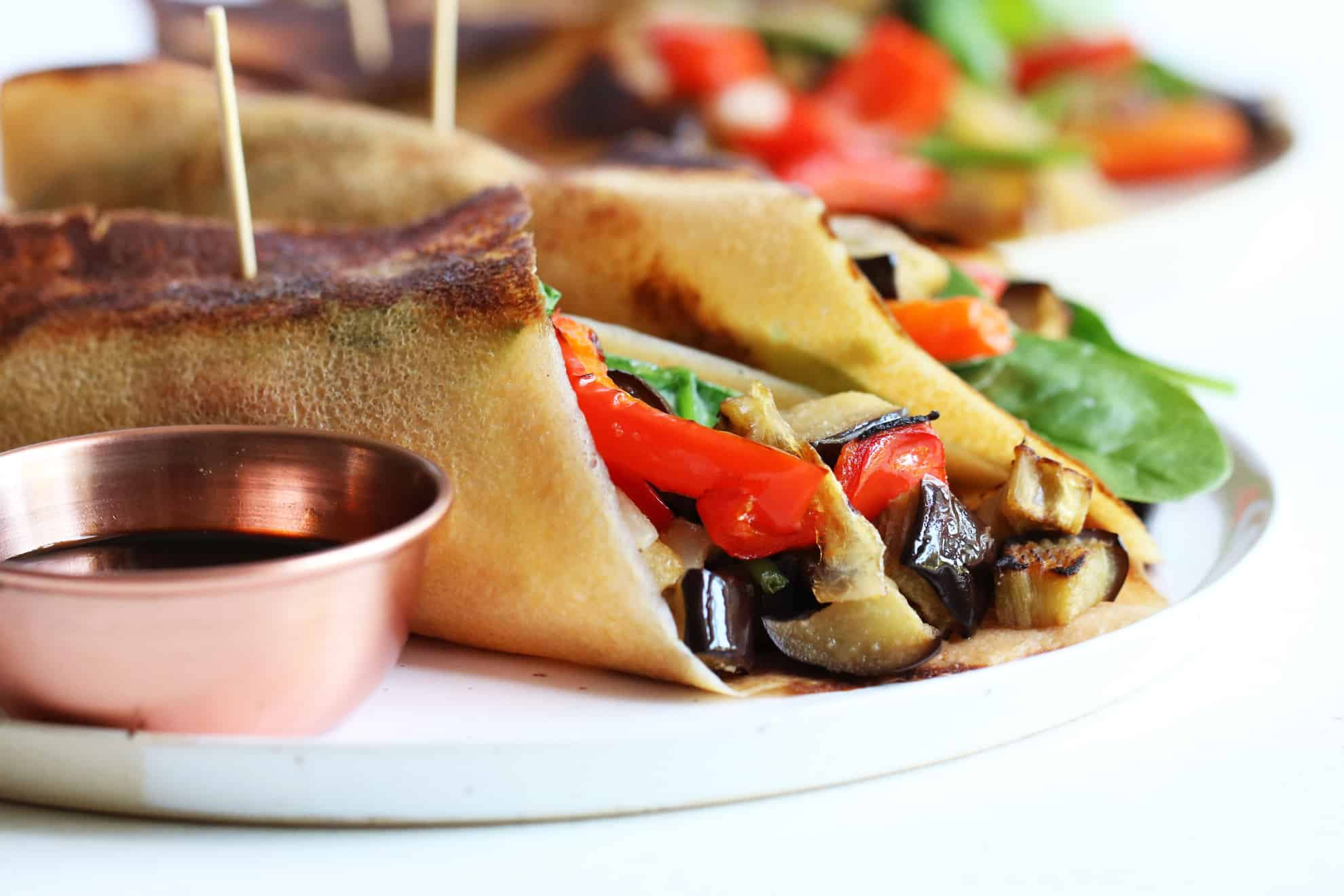 Balsamic Roasted Veggie Wraps