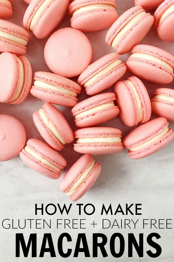 I'm convinced that anyone can make Gluten Free Macarons with this simple step by step recipe and my tips! Macarons are way easier to make than you think!! thetoastedpinenut.com #thetoastedpinenut #glutenfree #dairyfree #macarons #dessert #french #howto #diy #homemade