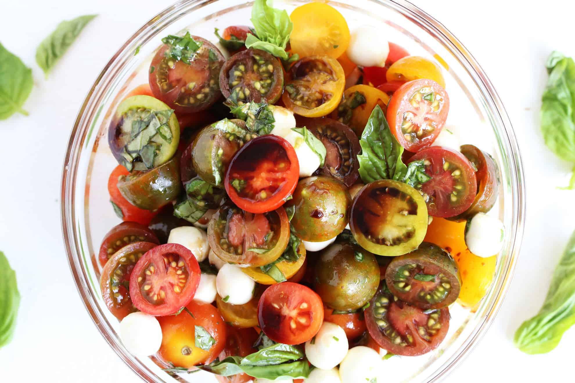 Mini Heirloom Caprese Salad