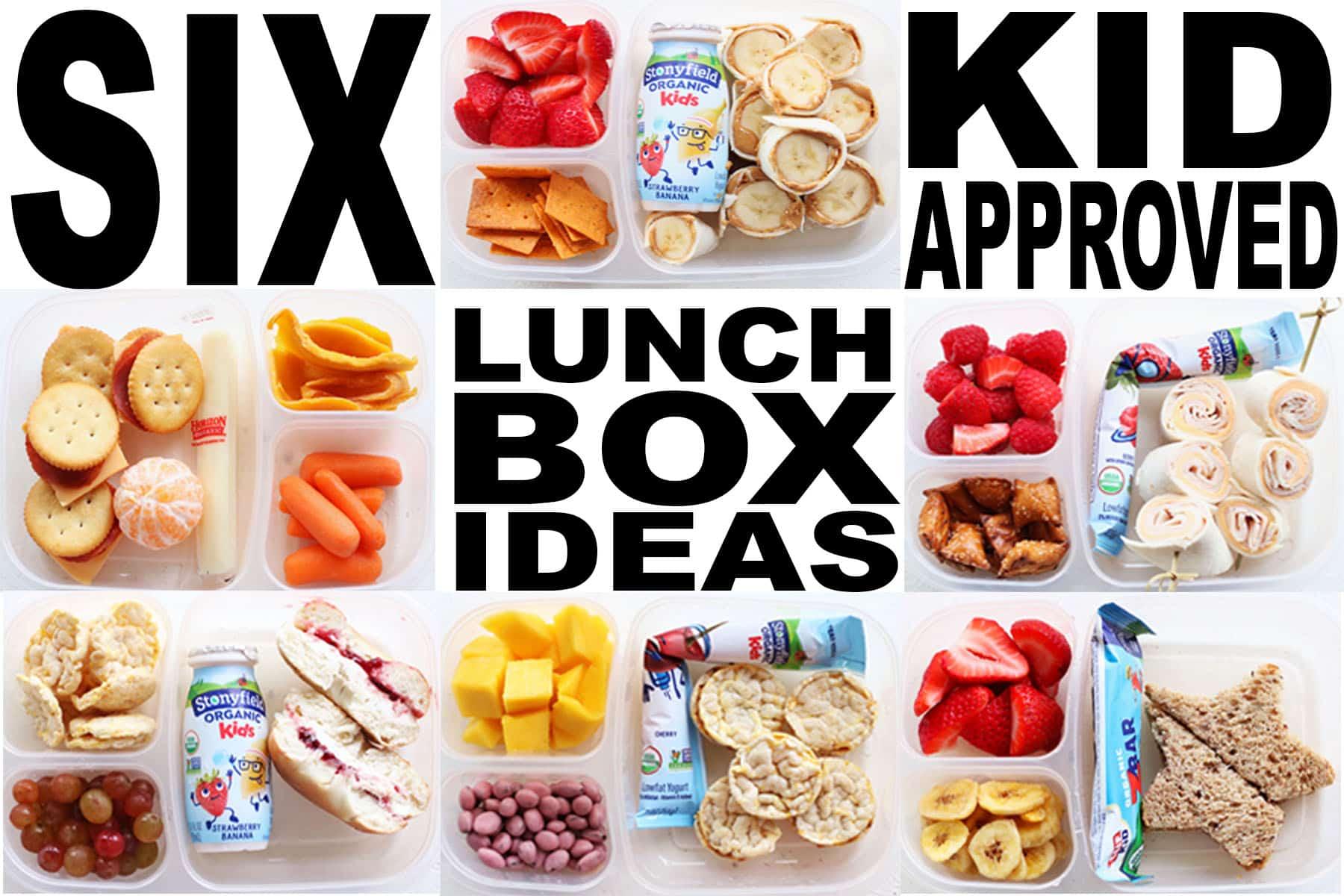 Six School Lunchbox Ideas