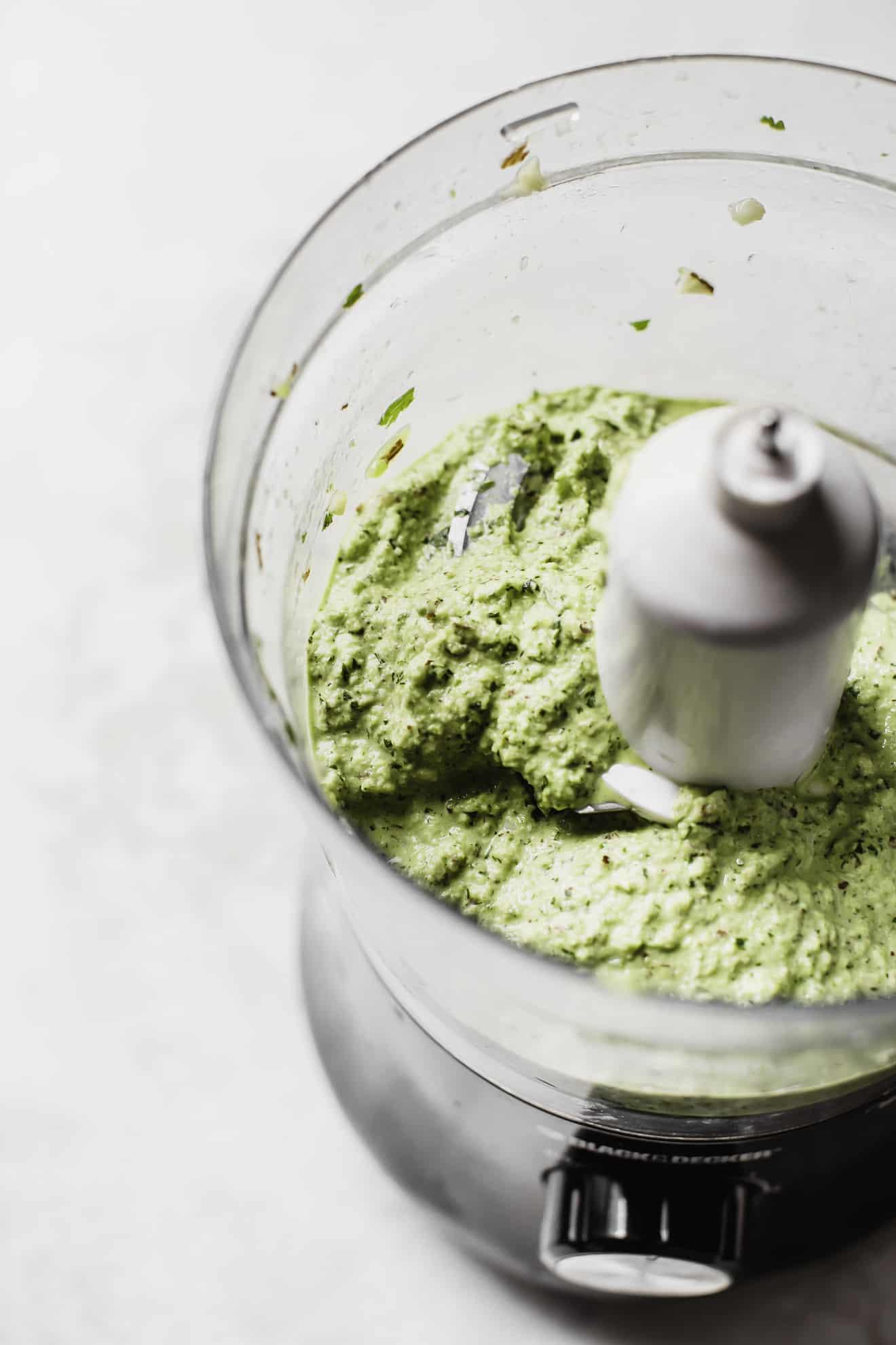 Spiced Cauliflower + Green Romesco
