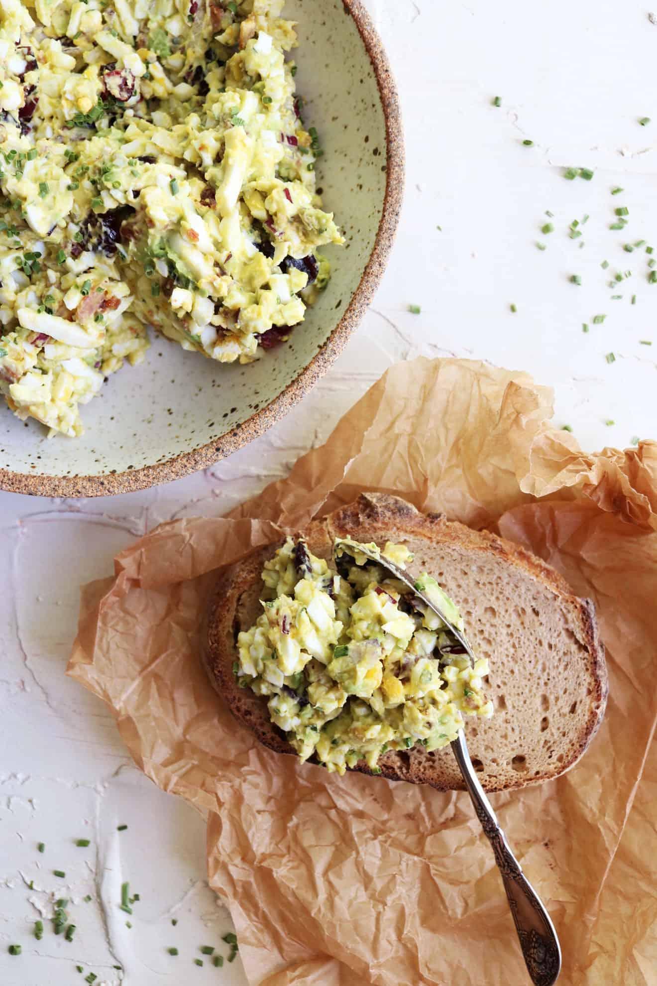 Loaded Avocado Egg Salad
