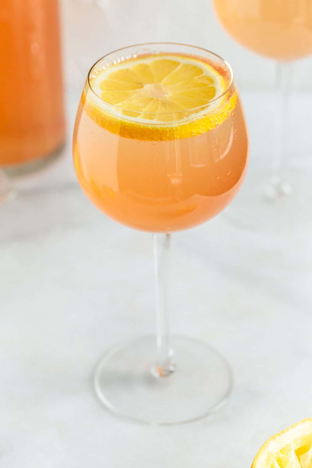 Lightened Up Rosé Lemonade Spritzer