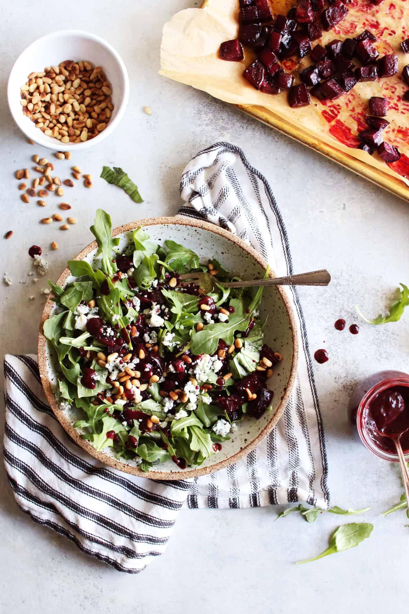 Roasted Beet Salad + Blueberry Vinaigrette