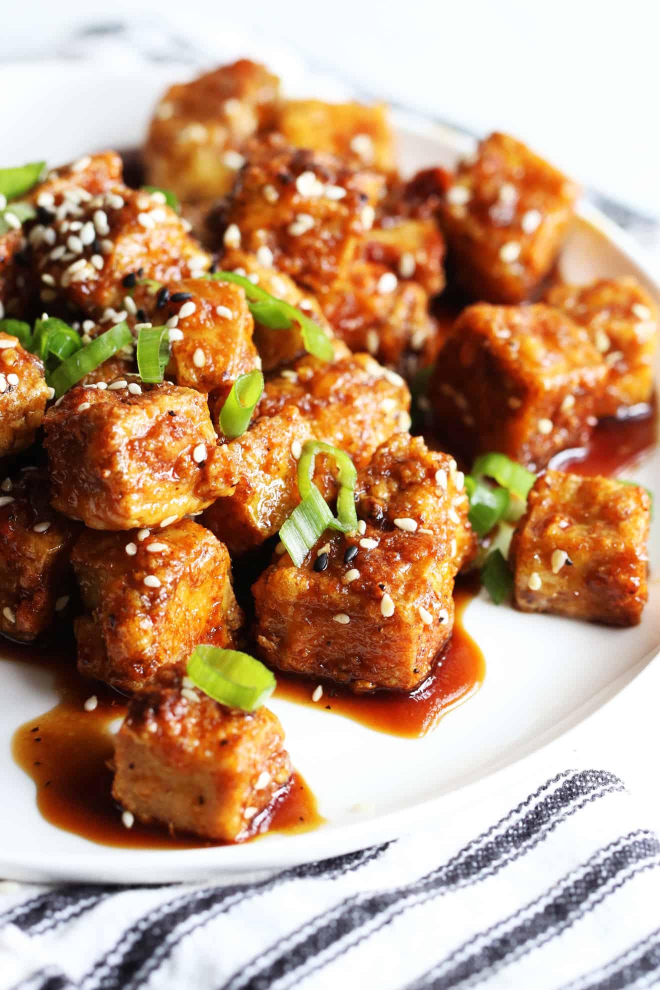 Ginger Soy Air Fryer Tofu