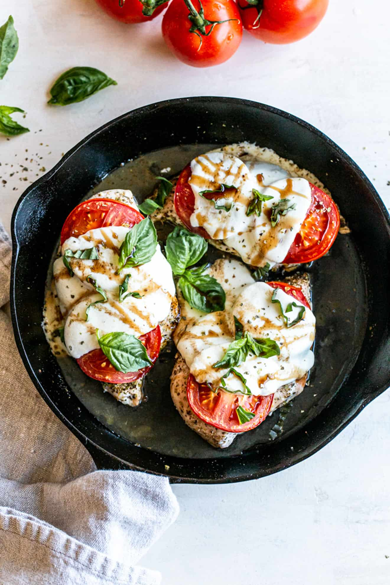 Low Carb Caprese Chicken Skillet The Toasted Pine Nut